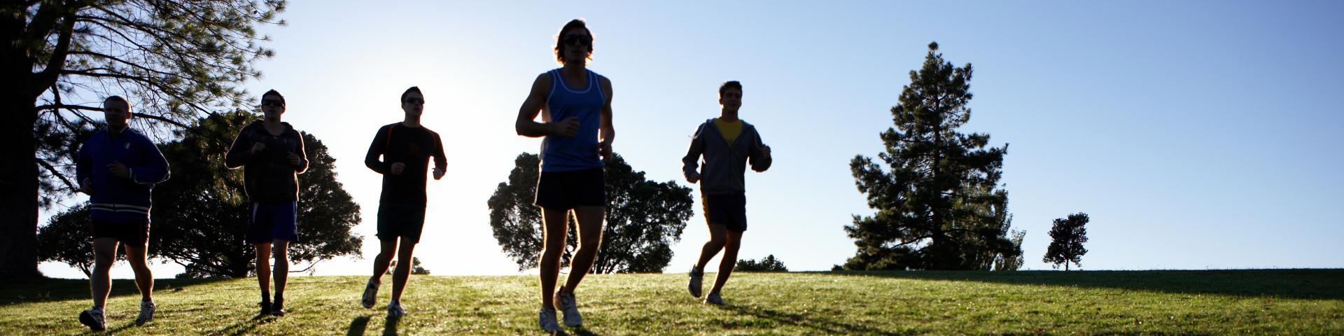 runners in a parc