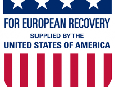 Marshall Plan logo for European Recovery after WWII by US
