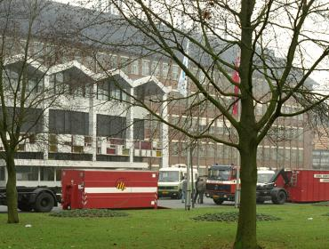 Firetrucks in front of main RIVM building